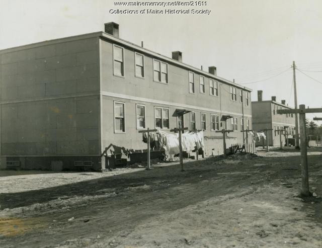 Long Creek housing, South Portland, 1946