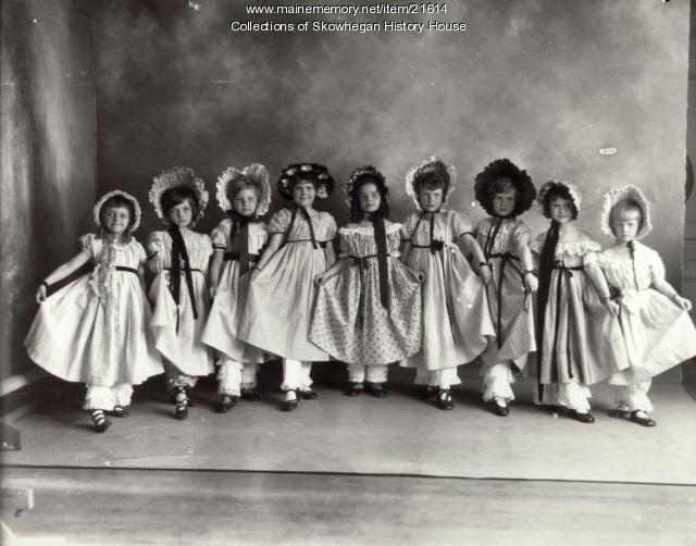 Lucy Johnson's Dancing Class, Skowhegan, 1927
