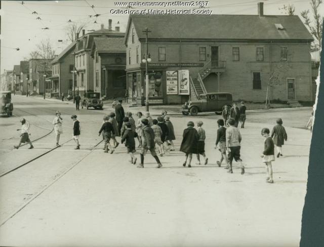 Knightville Square, South Portland, ca. 1928