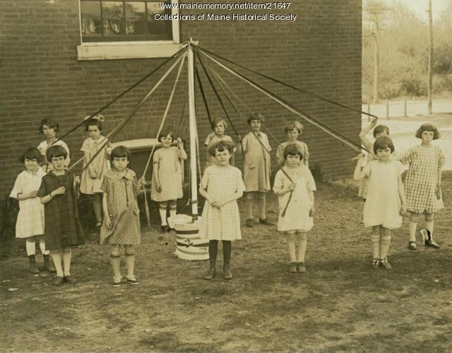May pole dancers, South Portland, ca. 1925