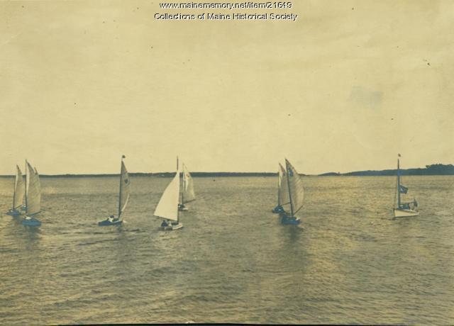 Mosquito fleet, Casco Bay, ca. 1950