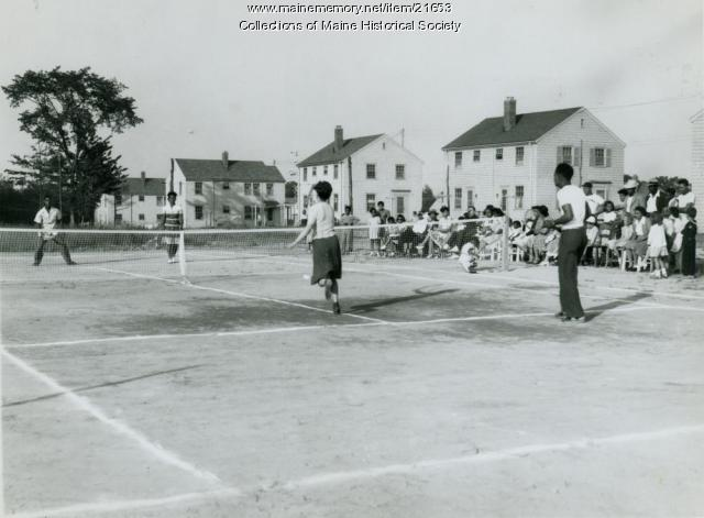 New tennis courts, South Portland, 1944