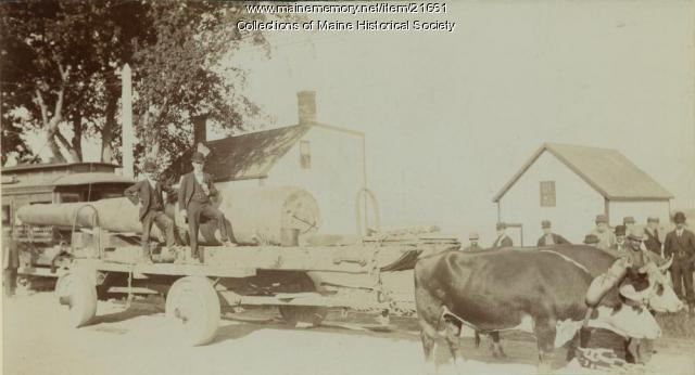 Gun transport, South Portland, ca. 1898