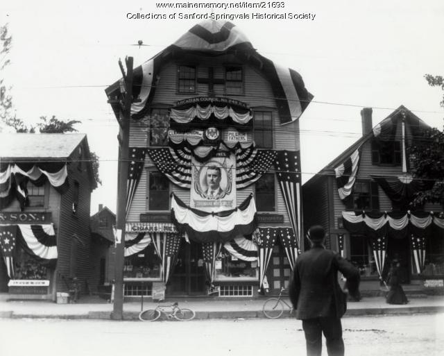 Teddy Roosevelt Banner, ca. 1904