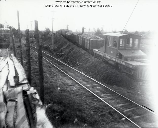 Atlantic Shore Line Cars Loaded With Coal, Springvale, ca. 1905
