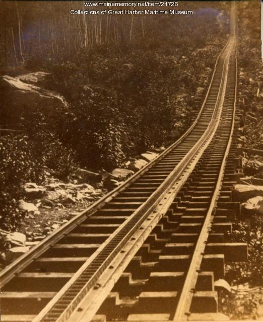 Tracks up Green Mountain for the Green Mountain Rail Road, ca. 1890