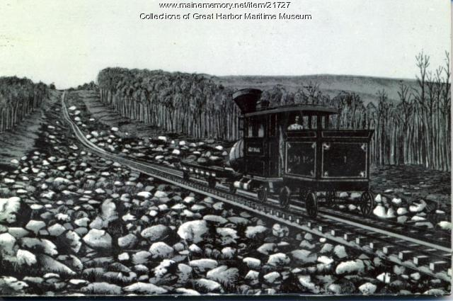 Lithograph of Green Mountain Rail Road Train