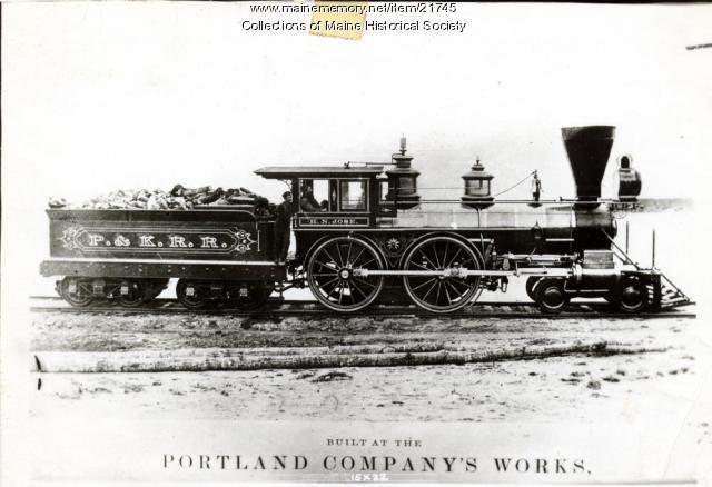 H. N. Jose locomotive, Portland, ca. 1880