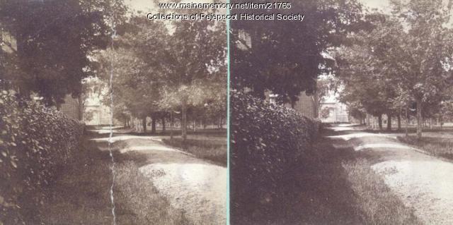 Bowdoin College campus, Brunswick, ca. 1880