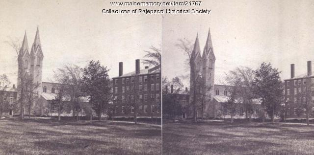 Bowdoin College buildings, Brunswick, ca. 1880