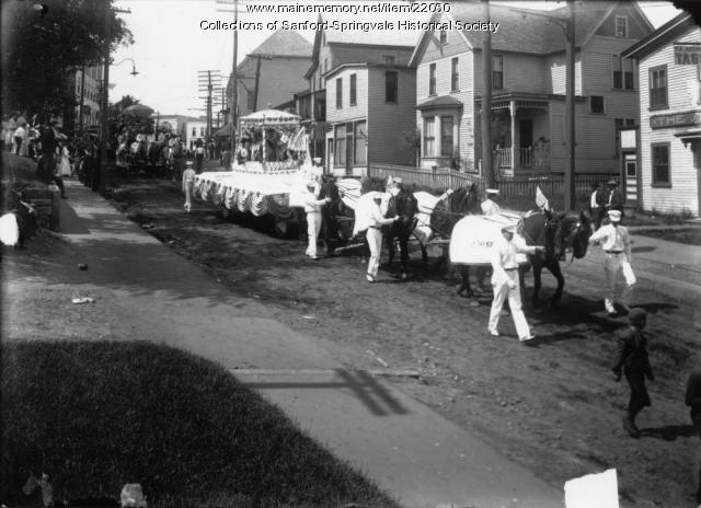 Parade, Washington Street, Sanford, ca 1915