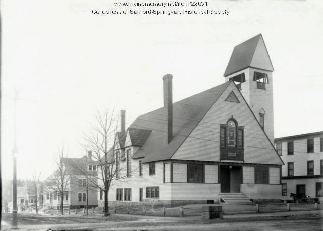 Sanford Baptist Church, ca 1900