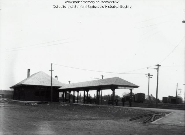 Springvale Railroad Station, after 1908