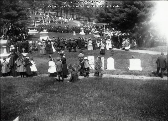 Ceremony, Oakdale Cemetery, ca. 1907