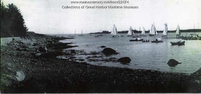 Gilpatrick's Cove and Rock End Dock, Northeast Harbor, ca. 1900