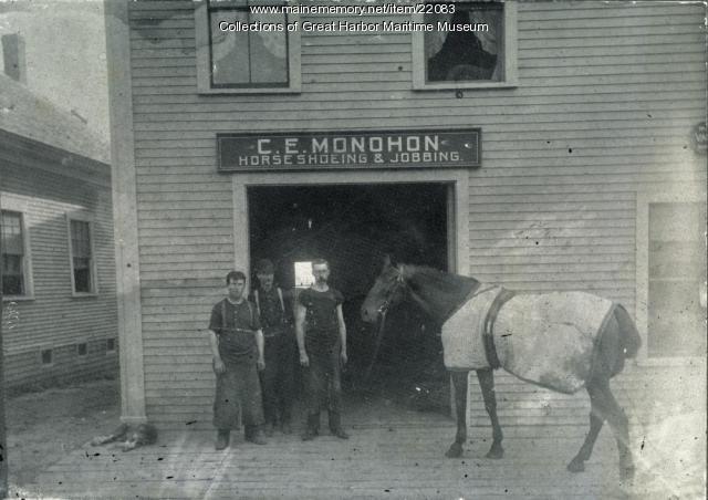 C.E. Monohon, Horse Shoeing and Jobbing