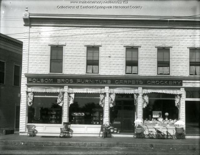 Folsom Brothers Store, Main Street, Springvale, ca. 1906