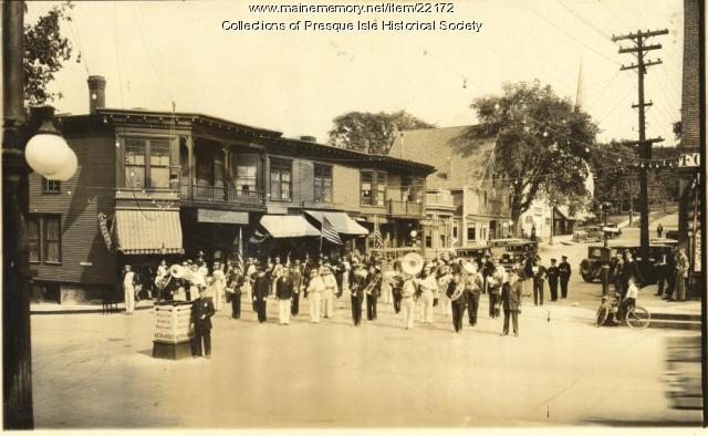 Main and State streets, Presque Isle, 1929