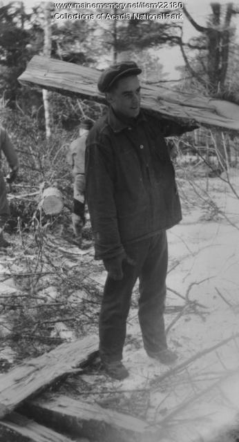 CCC Worker in Acadia National Park