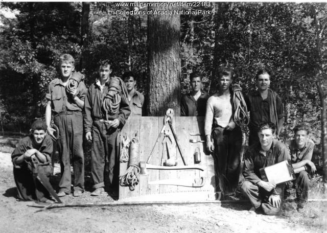 CCC workers, Acadia National Park, ca. 1934