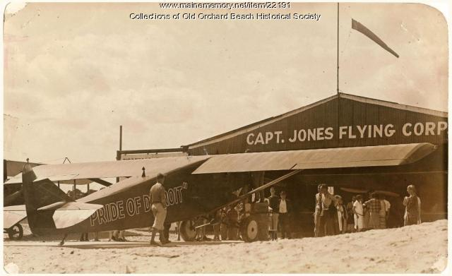 'Pride of Detroit,' preparing for transatlantic flight, Old Orchard Beach, 1927