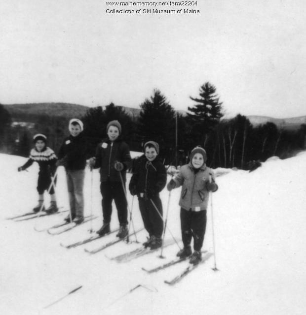 McHugh children, Pleasant Mountain, 1965
