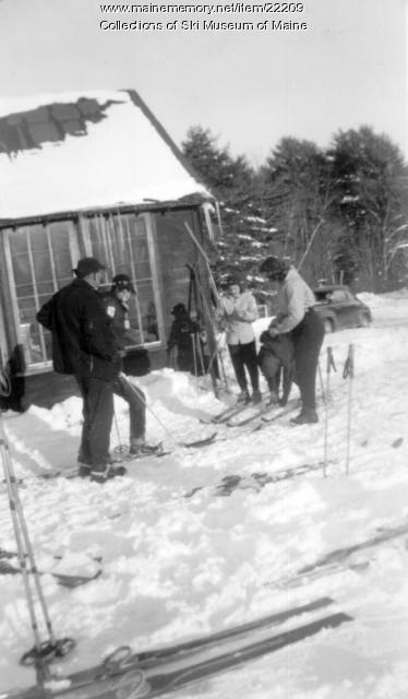 Skiers, Pleasant Mountain, 1952