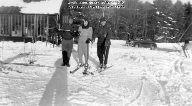 Down East Ski Club members, Pleasant Mountain, 1952