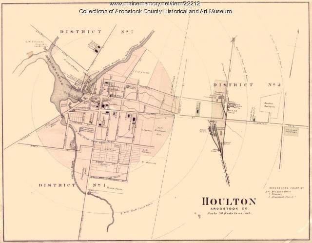 Map of Houlton, ca. 1870
