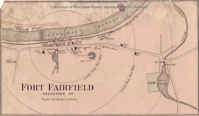 Map Of Fort Fairfield Ca 1870 Maine Memory Network