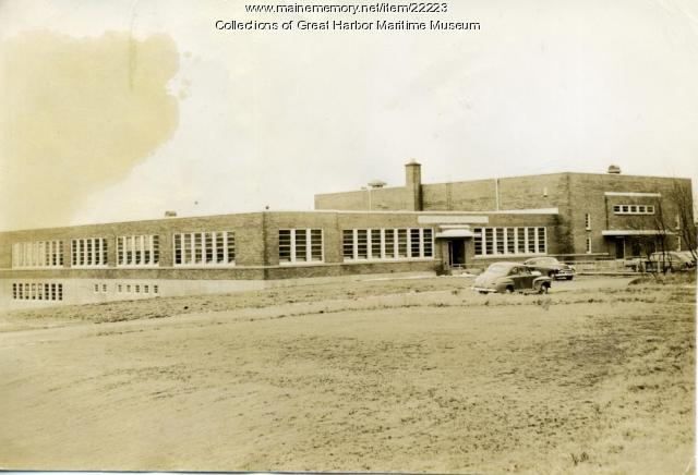 Mt. Desert High School, Northeast Harbor, ca. 1950