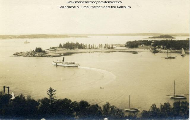 Steamers at Seal Harbor, ca. 1920
