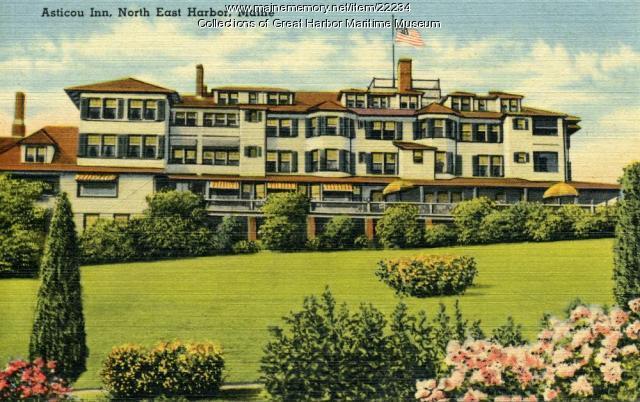 Asticou Inn, Northeast Harbor, ca. 1945