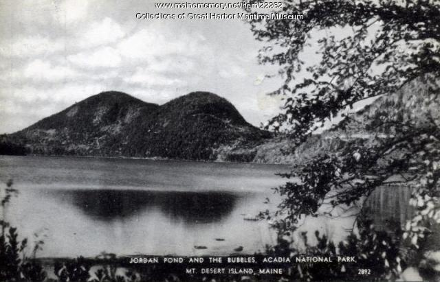 Jordan Pond and the Bubbles, Mt. Desert Island, ca. 1940