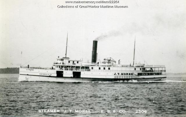 Steamer J.T. Morse, ca. 1930