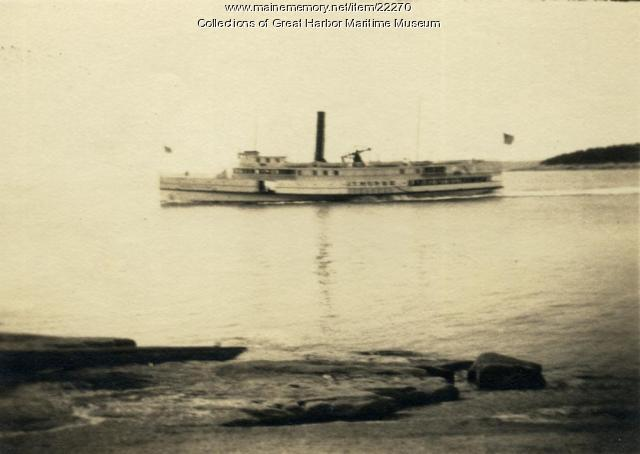 Steamer J.T. Morse from Mark Island, off Stonington, ca. 1930