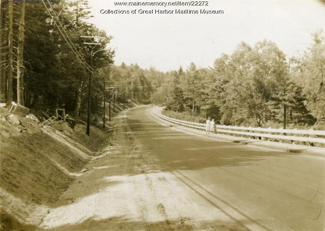 New Road into Northeast Harbor