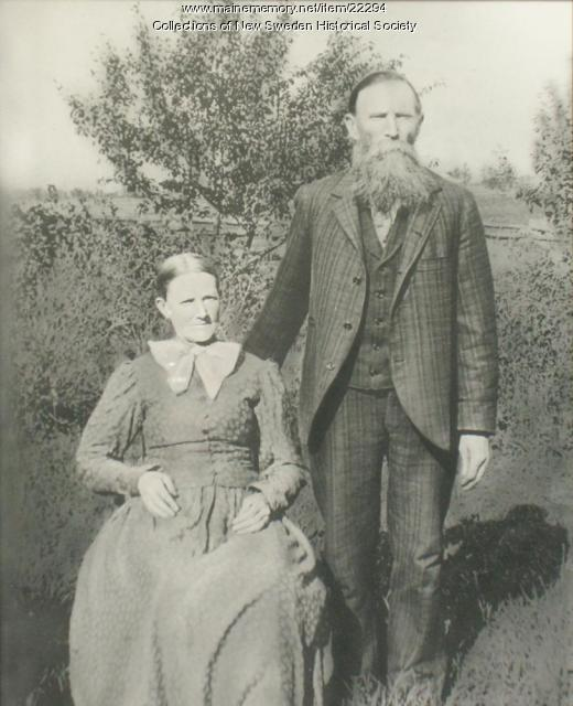 Nils and Karna Persson, New Sweden, ca. 1890