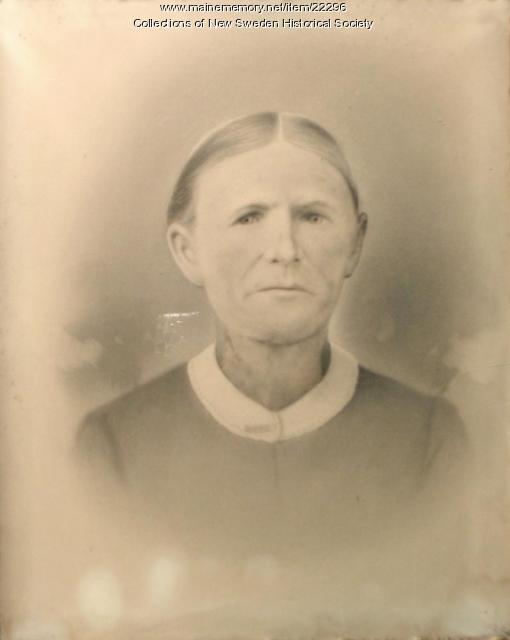 Mrs. Sara Bodin, Woodland, ca. 1880