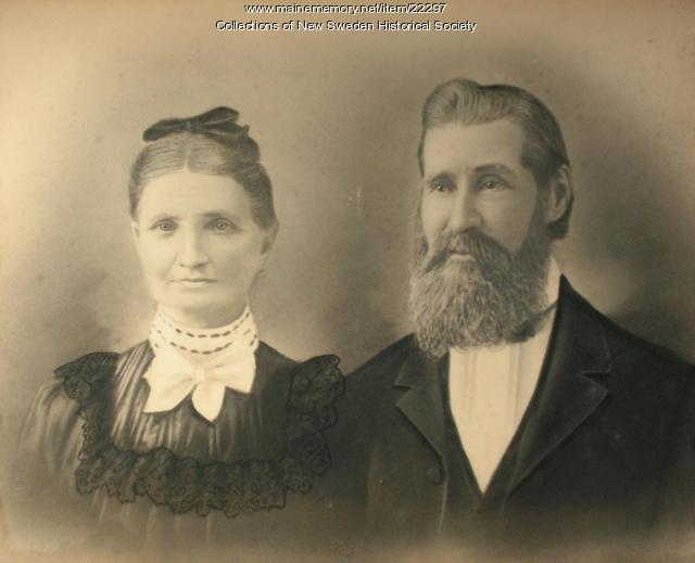Sven and Carolina Svenson, New Sweden, ca. 1880