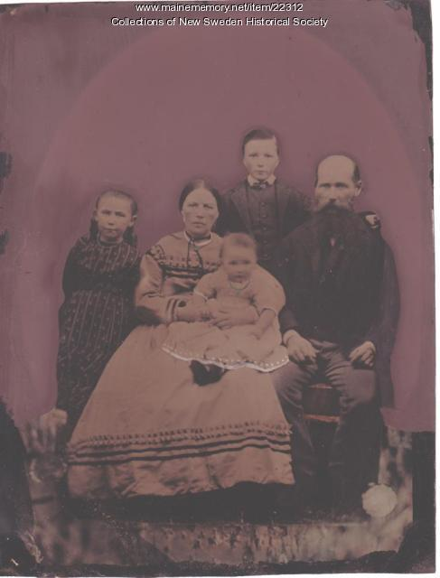 Captain Clase and family portrait, ca. 1870