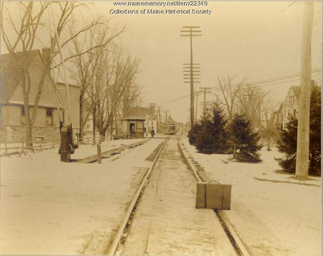 Street railroad, Forest Avenue, Portland, 1904