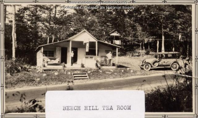 Beech Hill Tea Room, Island Falls, ca 1927