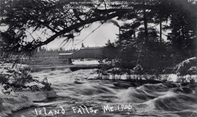 Covered bridge, Island Falls, ca. 1906