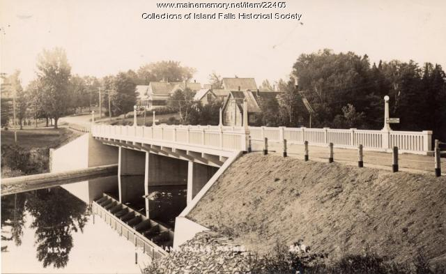 New Bridge, Island Falls, ca. 1929