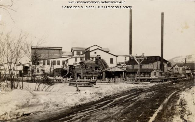 Northern Wooden Ware Mill, Island Falls, ca. 1927