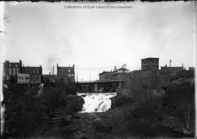 Gristmill and Cataract Falls, Saco, ca. 1900