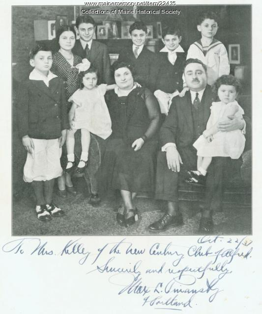 Judge Max Pinansky and Family, ca. 1937