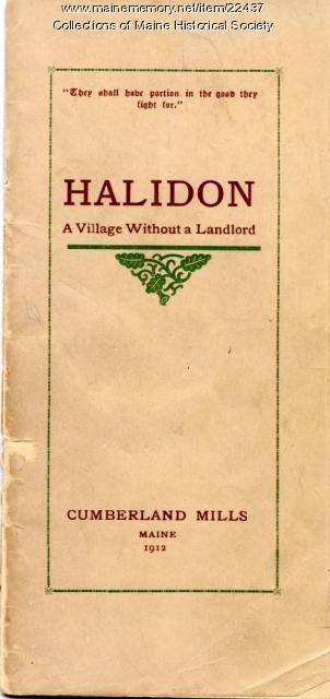 Halidon prospectus, Cumberland Mills, 1912