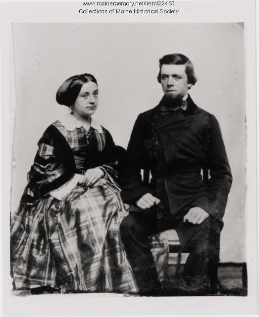 George Henry Bailey and wife, ca. 1860